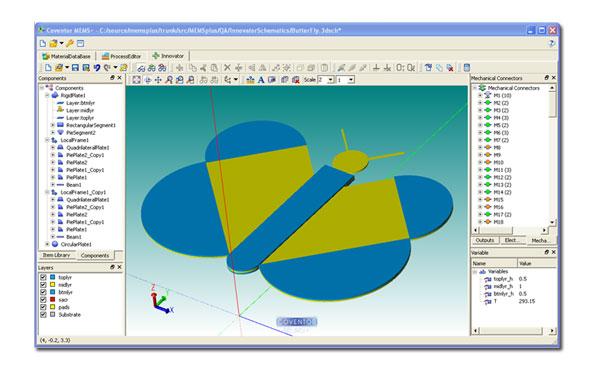 MEMS Butterfly 3D Model